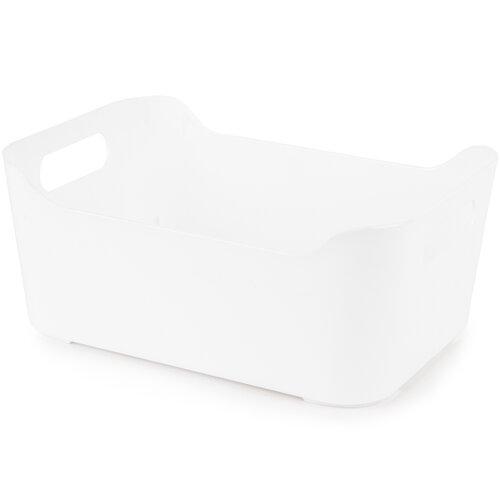 Plastový úložný box, biela