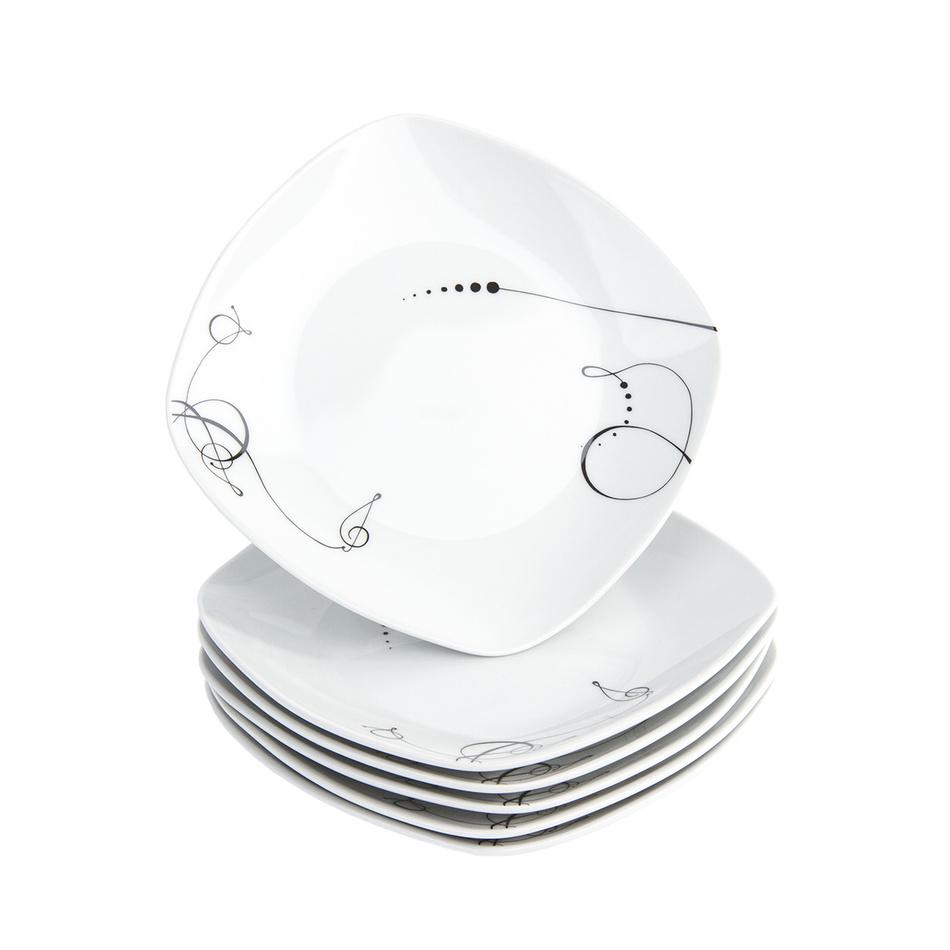 Fotografie Domestic 6dílná sada dezertních talířů Chanson, 19 cm