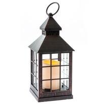 Lampáš s LED sviečkou na batérie Aube 10 x 23,5 cm, čierna