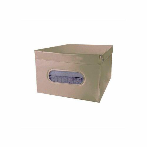 Compactor Skládací úložná krabice s víkem SMART, taupe