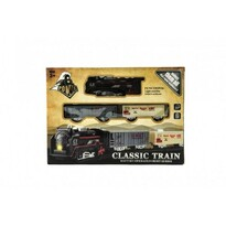 Teddies Svítící vlak na baterie s vagónky a kolejemi, 30 x 22 x 4 cm