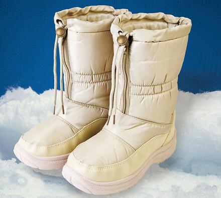 Nepromokavá zimní obuv s kožíškem, béžová, 40