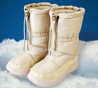 Nepromokavá zimní obuv s kožíškem, béžová, 39