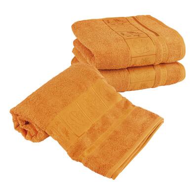 4Home Sada Bamboo oranžová osuška a ručníky, 70 x 140 cm, 2 ks 50 x 100 cm
