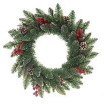 Levante karácsonyi koszorú, zöld, átmérő: 50 cm