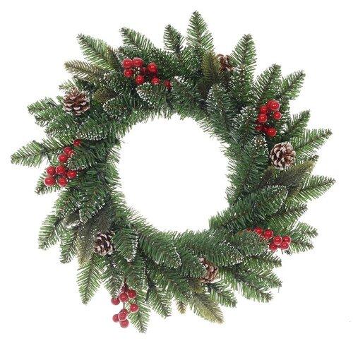 Vianočný veniec Levante zelená, pr. 50 cm