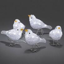 Vánoční venkovní dekorace Ptáčci, 40 LED, 5 ks