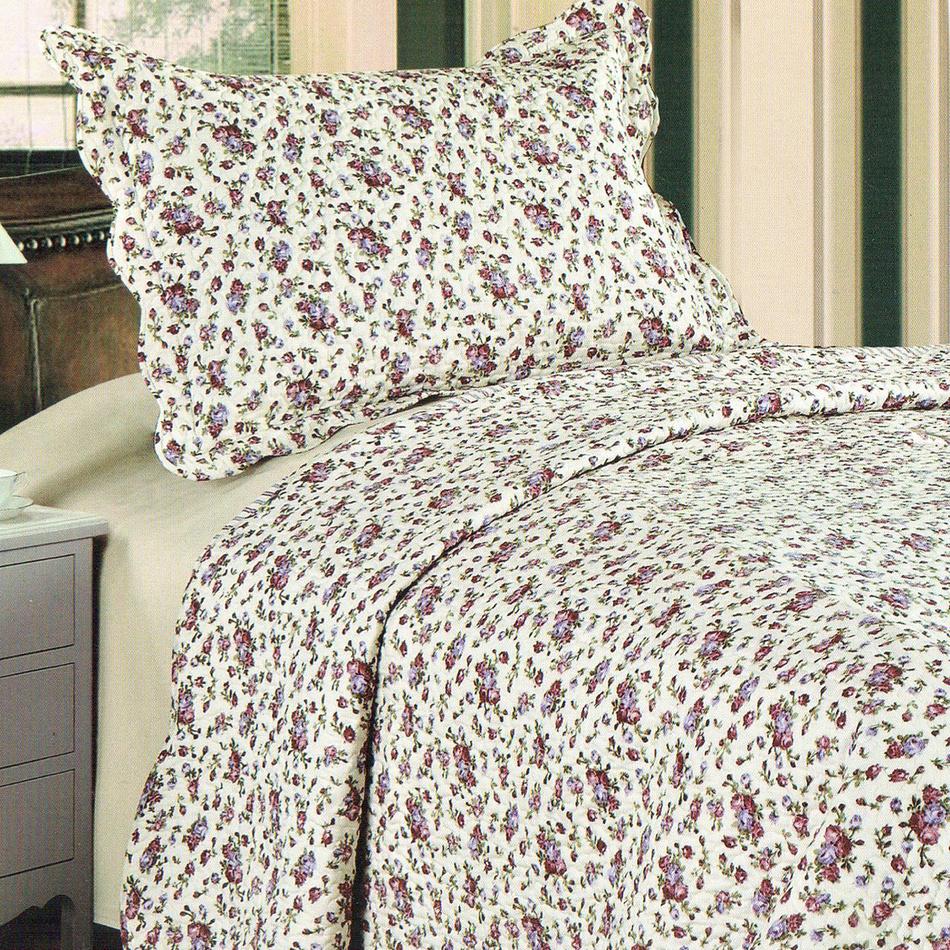 Přehoz na postel Flowers, 140 x 200 cm, 1x 50 x 70 cm, 140 x 200 cm
