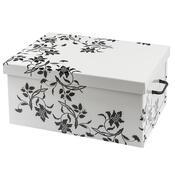 Úložný box Ornament 51 x 37 x 24 cm, bílá