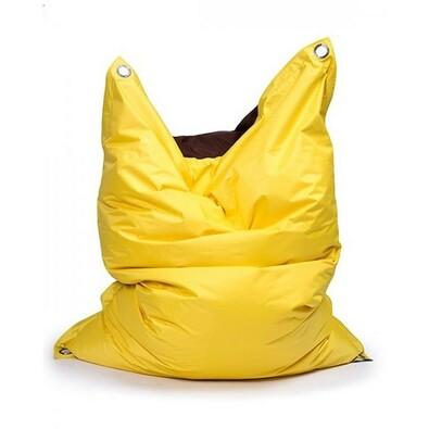 Sedací pytel s popruhy Chocolate-Yellow 191 x 141 cm