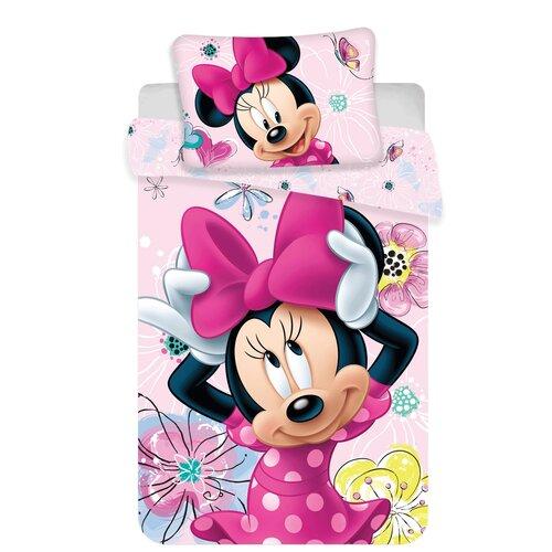 Lenjerie bumbac pentru copii Jerry Fabrics Minnie Butterfly baby, 100 x 135 cm, 40 x 60 cm