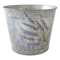 Lavender fém virágtartó, 18 x 15 cm