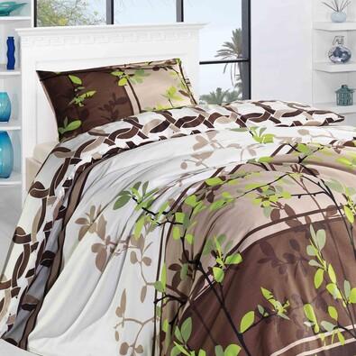 Bambusové povlečení Agros zelená, 140 x 200 cm, 70 x 90 cm
