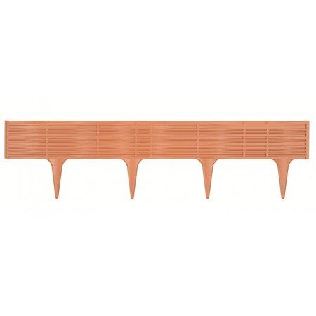 Kerti pázsitszegély String terrakotta, 390 cm