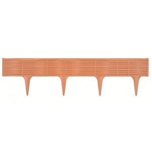 Travní lem String terakota, 390 cm