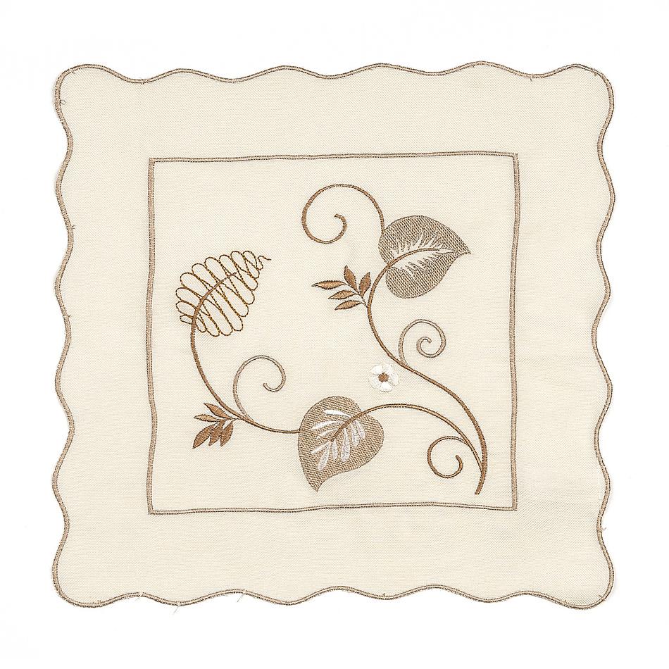 Forbyt Vyšívaný obrus listy, 35 x 35 cm, 35 x 35 cm