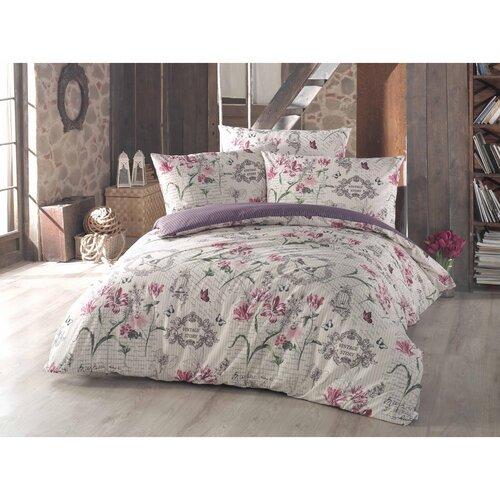 Bavlnené obliečky Valeria fialová, 140 x 200 cm, 70 x 90 cm
