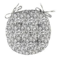 Siedzisko Grey Flower przeszywane okrągłe, 40 cm