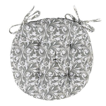 Grey Flower ülőke, steppelt, kerek, 40 cm
