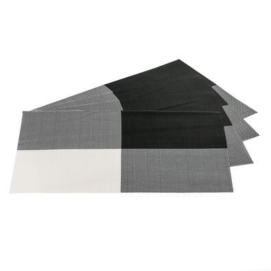 Prostírání DeLuxe černá, 30 x 45 cm, sada 4 ks