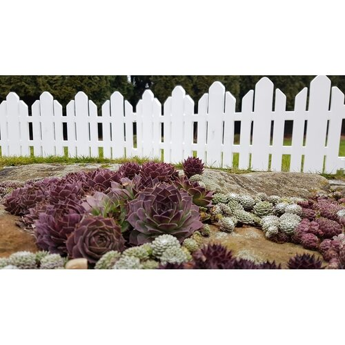 Gard de grădină Home alb 2,3 m imagine 2021 e4home.ro