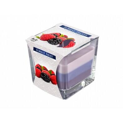 Szivárvány Erdei gyümölcs gyertya üvegpohárban, 170 g
