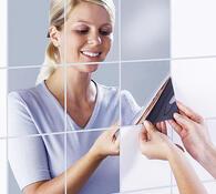 Zrcadlová fólie na kachličky