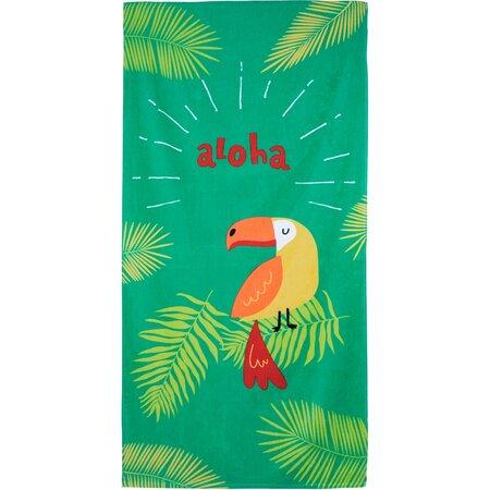 Aloha Parrot strandtörölköző, 70 x 140 cm