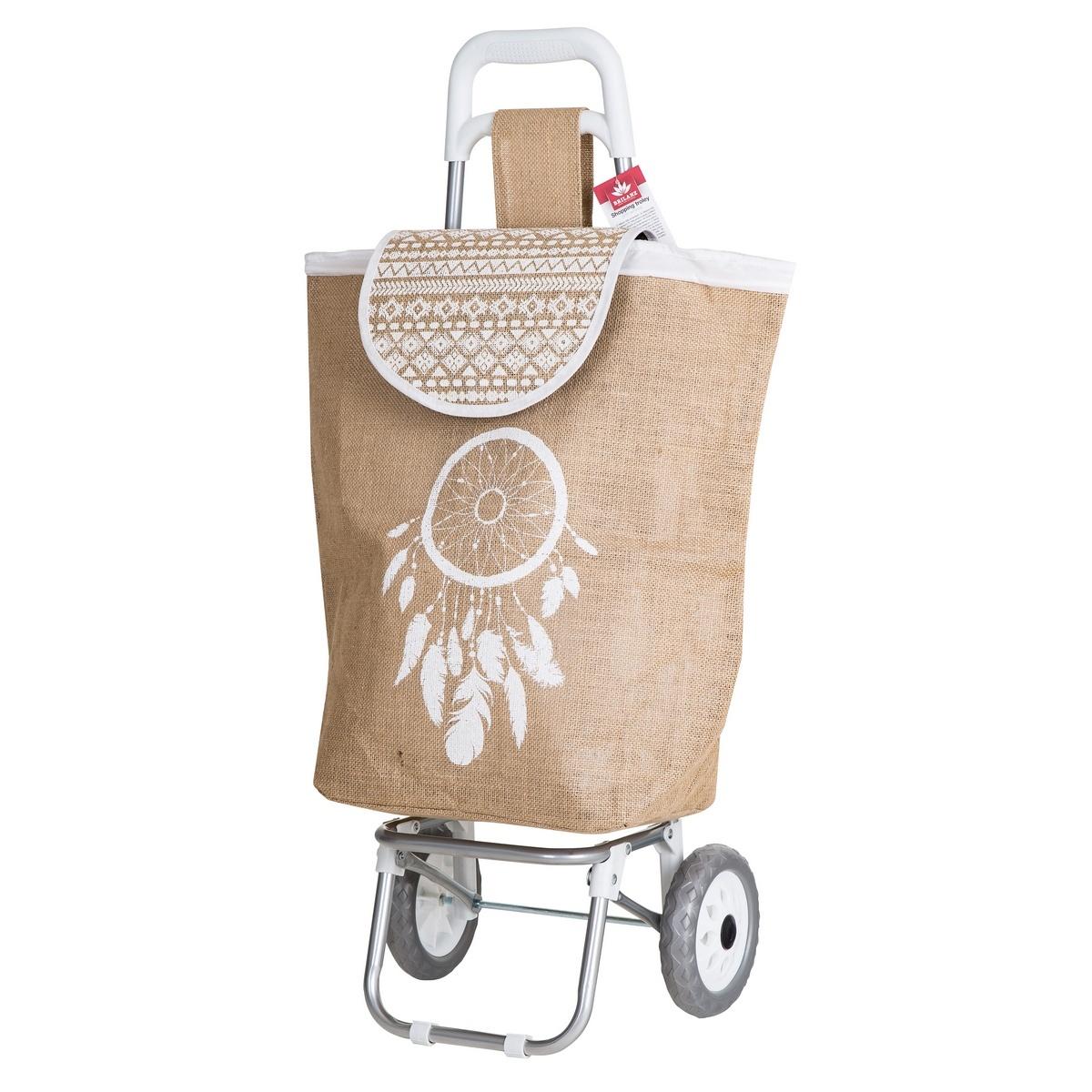 Brilanz Nákupná taška na kolieskach Carrie, béžová