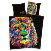 Bureau Artistique - Colored Lion szatén ágyneműhuzat, 140 x 200 cm, 70 x 90 cm