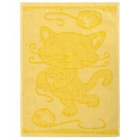 Cat yellow gyermek törölköző, 30 x 50 cm