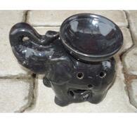 Keramická aromalampa slon, černá