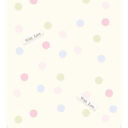 Detská fototapeta Dots with love, 53 x 1005 cm
