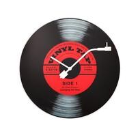 Ceas de perete Nextime Vinyl Tap 8141, diam. 43 cm