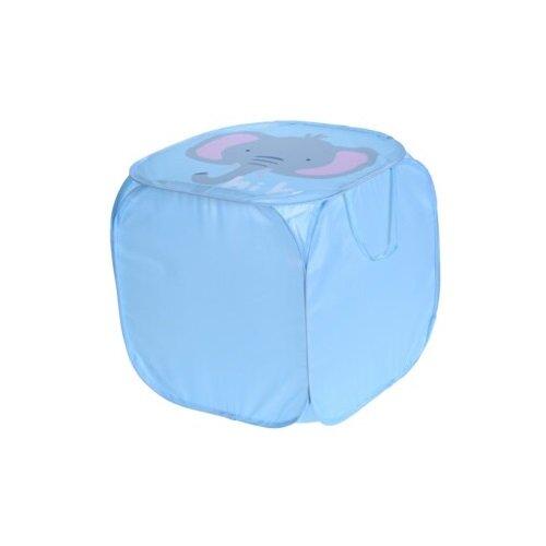Textilní úložný box Hatu, slon, 45 x 45 x 45 cm