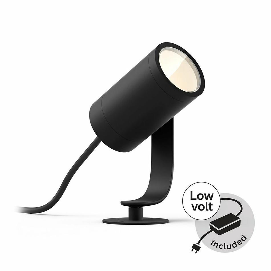 Philips HUE 17414/30/P7 Lily záhradný reflektor / 3x spot / kábel / napájanie 8W=650lm 2000 - 6500K
