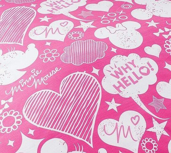 Detské bavlnené obliečky Minnie Pinkie, 140 x 200 cm, 70 x 90 cm