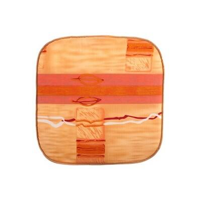 Podsedák zahradní 37 x 37 x 1,7 cm, oranžová