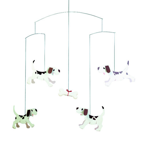 Flensted Mobiles Kinet Doggy Dreams 50 cm, hnedý