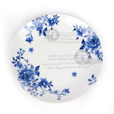 INDIGO ROSE porcelánový dezertní talíř