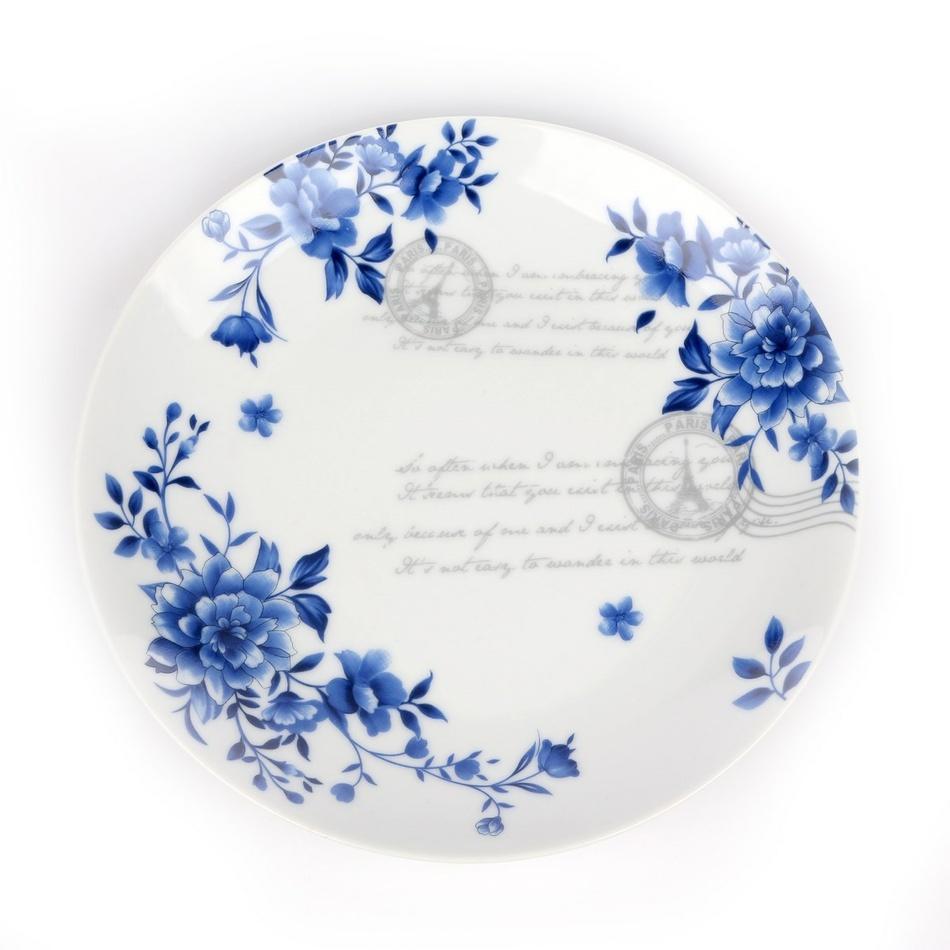 INDIGO ROSE porcelánový dezertný tanier,