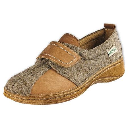 Orto Plus Dámská obuv na suchý zip vel. 40 hnědá