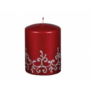 Vánoční svíčka Tiffany válec, červená
