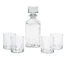 Set carafă și pahare de whisky, 5 piese