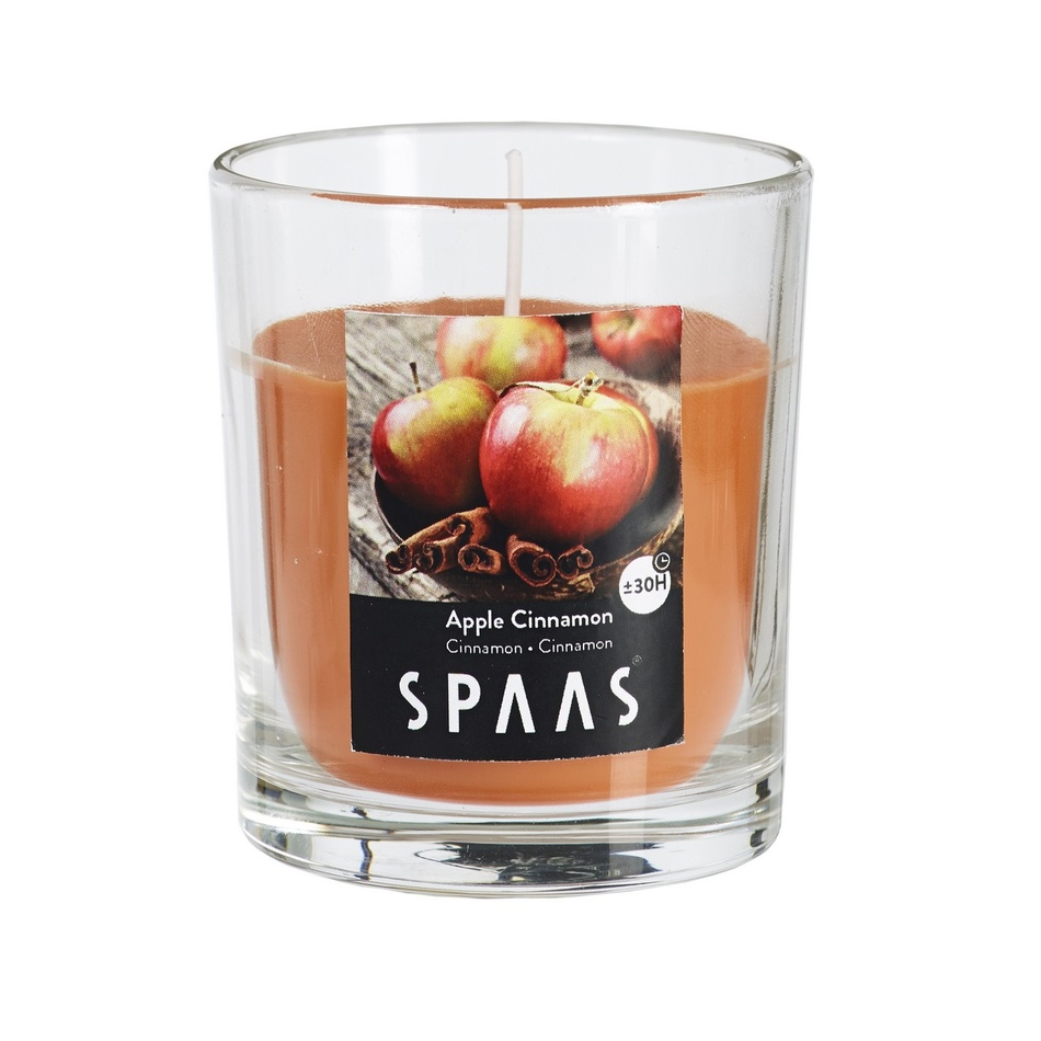 SPAAS Vonná svíčka ve skle Apple Cinnamon, 7 cm , 7 cm