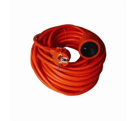 Solight Prodlužovací kabel 1 zásuvka spojka 20 m červený