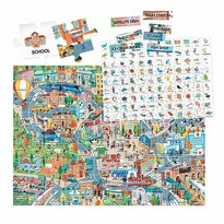 Headu Puzzle Easy English V meste, 108 dielikov