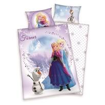Lenjerie de pat din bumbac pentru copiii FrozenSister Forever, 100 x 135 cm, 40 x 60 cm