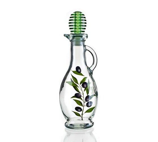 Fľaša na olej Olive, dekorovaná 250 ml Vetro-Plus