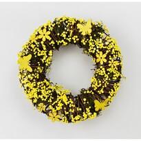 """Sztuczny wieniec """"Yellow Flowers"""", śr. 24cm"""
